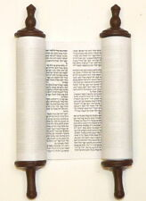 "6"" Torah Scroll Jewish Hebrew Bible Five Books of Moses Israel Pentateuch Humash"
