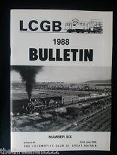 LCGB - LOCOMOTIVE CLUB OF GREAT BRITAIN BULLETIN - JUNE 22 1988