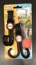 Nuby Deluxe Double Stroller Hooks (2) Double Hooks with Swivel