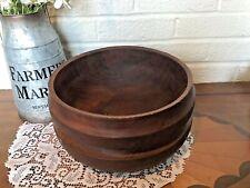 Vintage Teak Wood Large Serving Bowl Thailand