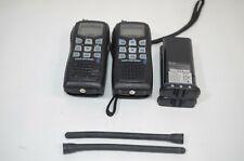 Lot of 2 Icom VHF Marine Radio Floating IC-M36 Radios Untested