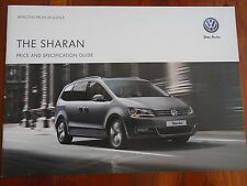 VW Sharan price and specification guide brochure Apr 2014
