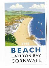 The Beach Carlyon Bay, Cornwall postcard