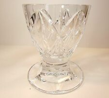 """EXCEPTIONAL WATERFORD CRYSTAL MARQUIS VASE 5"""" TALL LOGO STICKER EUC"""