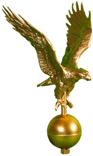 Flagpole Eagle Topper Decorative Bronze Finial Globe Outdoor Large 12 Inch