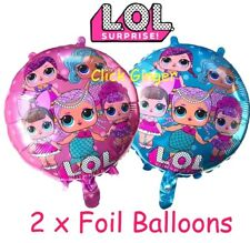 LOL Surprise Dolls Helium Quality Foil Balloon (x2) 44cm Girls Party Decoration