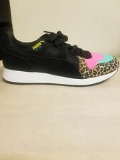 Youth Size 6 C PUMA RS100 Animal Print 370802-01 Shoes Cheetah Pink Teal Black