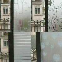 Waterproof PVC Privacy Frosted  Bedroom Bathroom Window Sticker Glass Film Decal