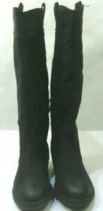 "NEW Black Dollhouse 1"" Heel Round Toe Cowboy Knee High Boots Women Size 5.5"