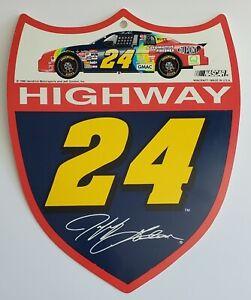 1996 Jeff Gordon #24 Nascar Shield Shaped Highway 24 Sign Plaque !