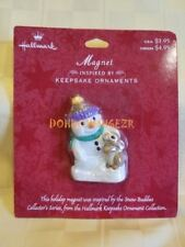 Hallmark Magnet Snow Buddies Snowman Christmas in original package