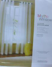 "Jcp Martha Window Promenade Grommet Sheer Panel 50"" W X 72"" L White New $45.00"