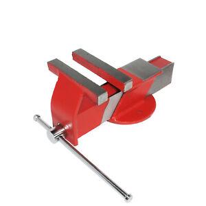 """Parallel Schraubstock 125mm 5"""" aus Stahl mit Amboss für Werkbank Spannweite 17cm"""