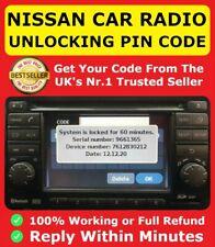NISSAN MICRA NOTE JUKE RADIO UNLOCK CODE STEREO CODES PIN CAR | FAST SERVICE