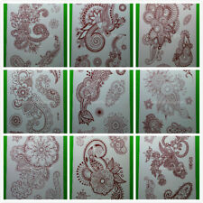 Wholesale 81 Sheets Water Transfer Henna Temporary Tattoos Flower Butterfly