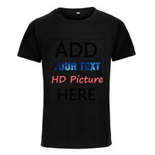 Custom Personalized Cotton Tops T-shirt Your Own Design Text Picture Printed Tee