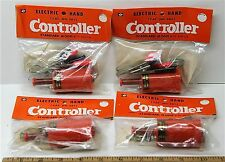 4pc Vintage TRADESHIP 1/24 1/32 Slot Car STANDARD CONTROLLER +Alligator Clips!