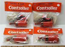 4pc Vintage TRADESHIP 1/24 1/32 Slot Car STANDARD CONTROLLER +Alligator Clips!