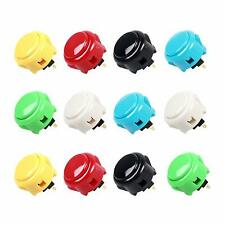 12x Arcade Buttons Sanwa OBSF-30 Push Button 30mm Each Color of 2 Pcs Mame Jamma
