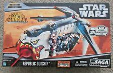STAR WARS THE CLONE WARS REPUBLIC GUNSHIP SAGA COLLECTION TIGER SHARK BRAND NEW