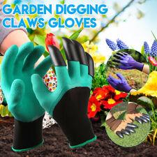 Digging Planting Waterproof Gardening Rubber Gloves ABS Plastic Claw Garden Work