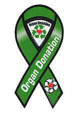 Magnetic Bumper Sticker - Organ Donation (Donor) - Ribbon Shaped Support Magnet