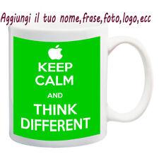 MUG TAZZA KEEP CALM- THINK DIFFERENT PERSONALIZZATA CON NOME FRASE,FOTO - IDEA R