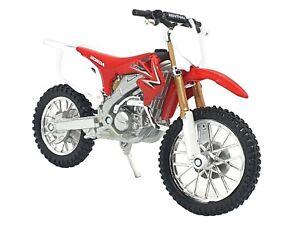 Red Honda CRF450R 1:18 Dirt Motorbike Motorcycles Kids Model Diecast Toy Bike