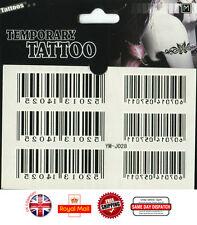 Arm Polso Codice a barre QS Impermeabile Tatuaggi Temporanei Adesivo