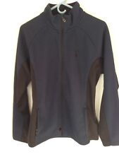 Men's Spyder Outbound Full Zip Core Mid Weight Sweater Jacket Ski Blue Size L