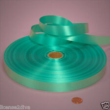 "RIBBON MINT SEA FOAM POLY SATIN 'TIFFANY' DESIGNER INSPIRED 250Y X 3/4"" SPOOL"