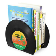 2Pcs Creative Retro Record Bookends Shelf Holder Book Holder Desk Organizer