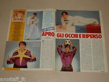 IVAN CATTANEO clipping articolo fotografia 1983 AT12 APRO GLI OCCHI E RIPENSO
