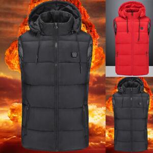 Women USB Electric Heated Heating Waistcoat Padded Winter Body Warmer Gilet Vest