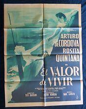 ARTURO DE CORDOVA Mexican Movie Poster EL VALOR DE VIVIR Rosita Quintana 1953