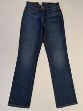 Ladies Levi Strauss Classic Straight Jeans UK Size 6 W24 L30 Blue Indigo
