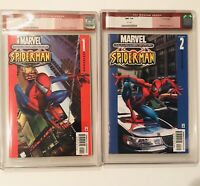 ULTIMATE SPIDER-MAN # 1 & 2  CGC 9.6 MARVEL COMICS  2000  OLD RED LABEL! HOT