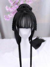 Chinese Ancient Custom Whole Hair Wig Archaic traditional Hairpiece PartyCosplay