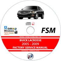 Buick Lacrosse 2005 2006 2007 2008 2009 Service Repair Manual on CD