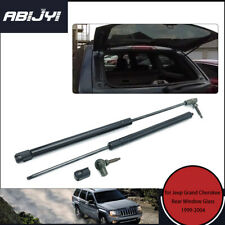 For 1999-2004 Jeep Grand Cherokee Vehicle Rear Window Glass Gas Struts Spring X2