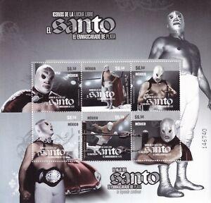mae53 Mexico 2008 El Santo wrestling  Sc# 2576  MNH