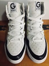 GUESS GIRLS/WOMENS OTREND HIGH TOP SNEAKERS - WHITE/BLACK - SIZE 5 1/2