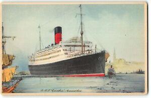 Vintage Postcard - RMS CARINTHIA, CUNARD LINES - Ship, Boat