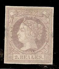 Edifil  56(*)  2 Reales Lila  Isabel II  1860/61 DICTÁMEN AUTENTICIDAD   NL1300
