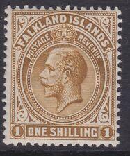 Falkland GV 1912-20 1/- brown MINT sg65b