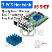 3 Pcs Set Blue Adhesive Aluminum Heatsink Cooler Cooling Kit for Raspberry Pi