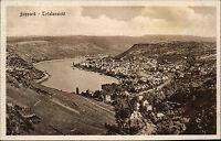 Boppard am Rhein s/w Postkarte ~1920/30 Totalansicht Weinberge Rhein ungelaufen