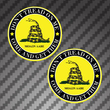 "2x Molon Labe 3"" circle Dont Tread On Me Sticker Decals gadsden gun rights arms"
