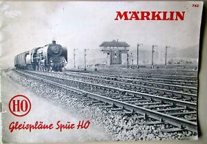 MäRKLIN 763 Gleispläne Spur H0 1950 vintage Track Layouts Marklin