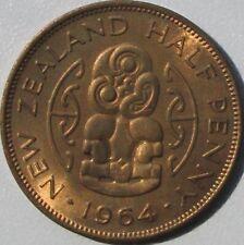 New Zealand 1964 Half Penny, BU